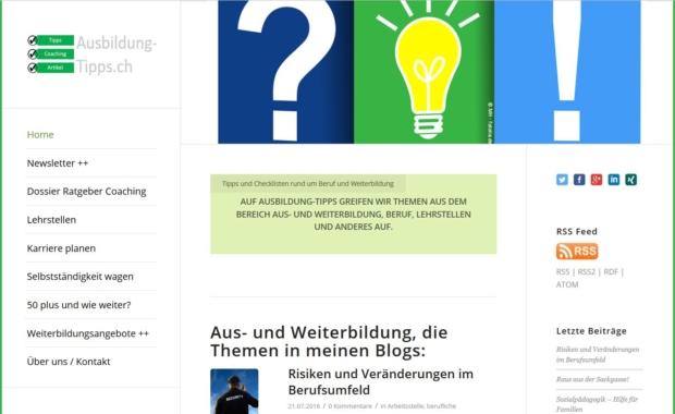Ausbildung-Tipps.ch: Aus- und Weiterbildungsplattform