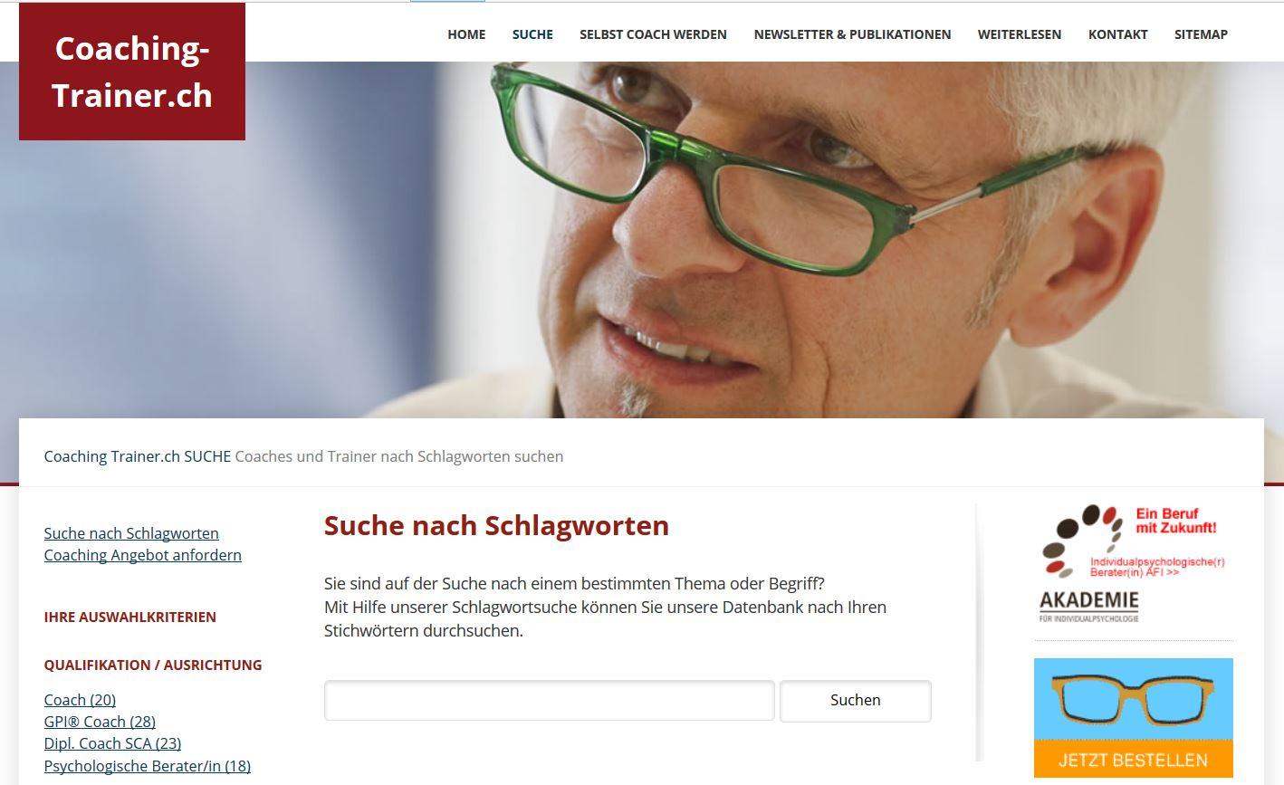 Coaching-Trainer.ch: Coach- und Trainer Verzeichnis
