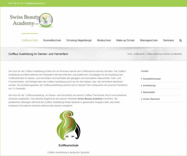 Swiss Beauty Academy - Coiffeur Ausbildung Region Zürich